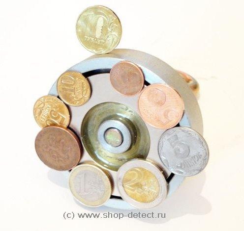 поиск монет магнитом